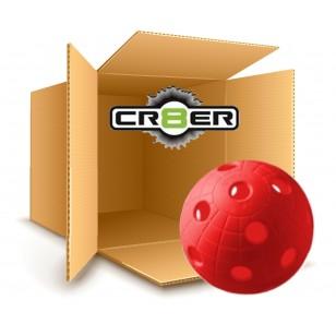 Set 200 Balles de unihockey CR8BER rouges